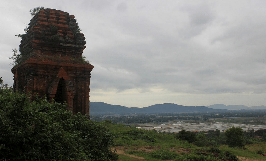 A mountain-top Champa tower in Quy Nhon. Photo courtesy of Marc Pare