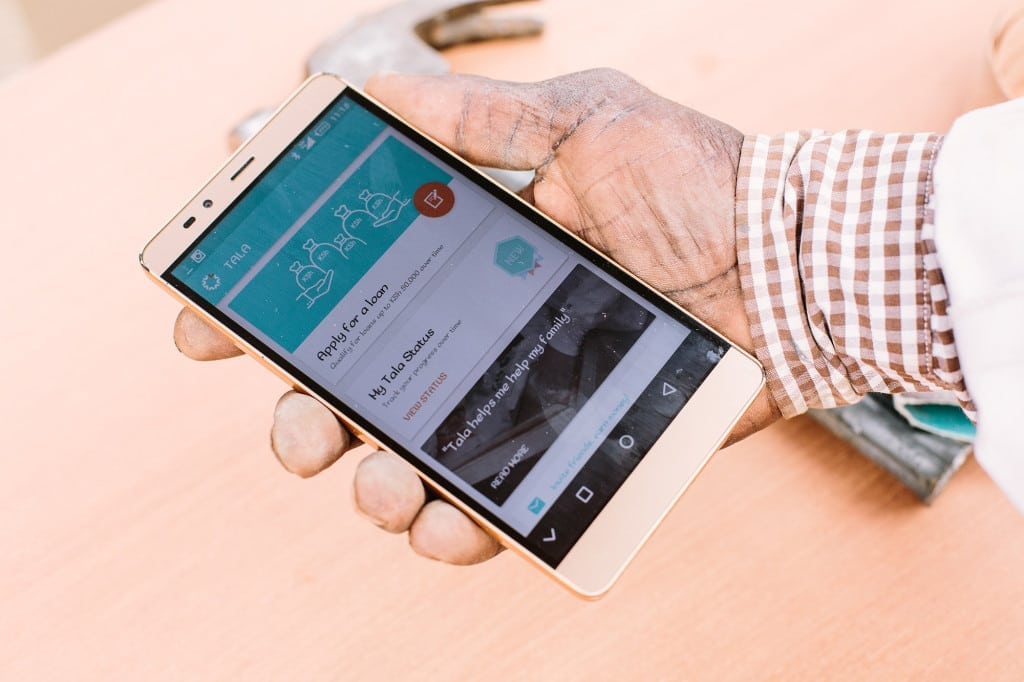 Tala app on a mobile phone screen