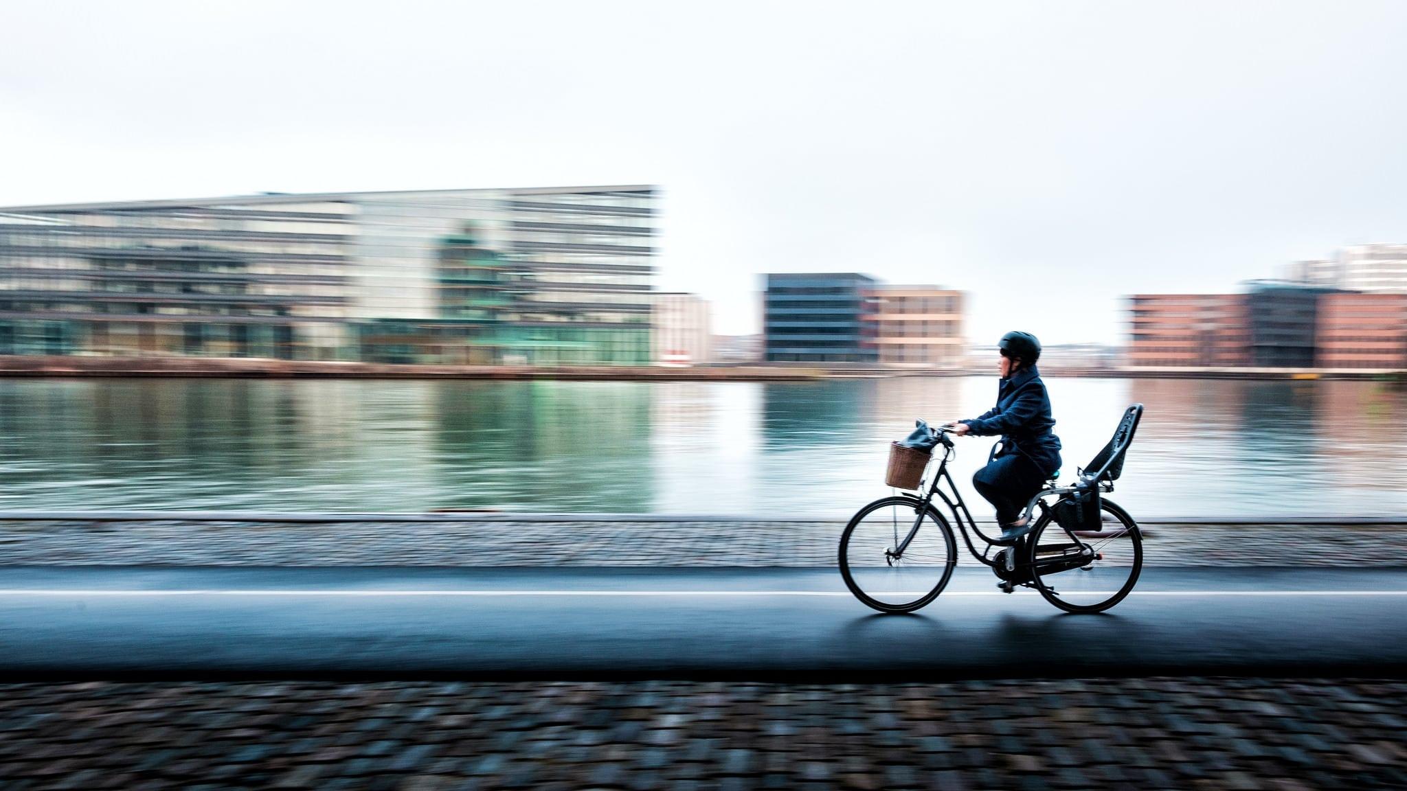 A cyclist in Copenhagen
