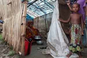 Emergency shelter in Bangladesh