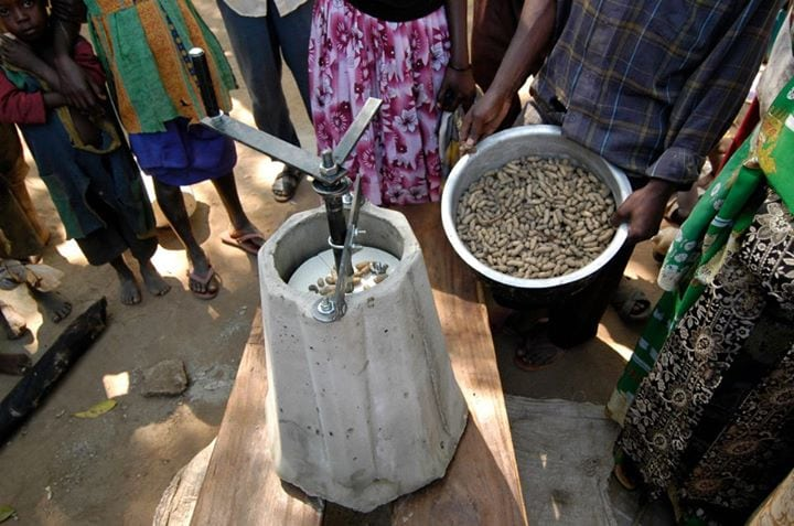 People use a universal nut sheller