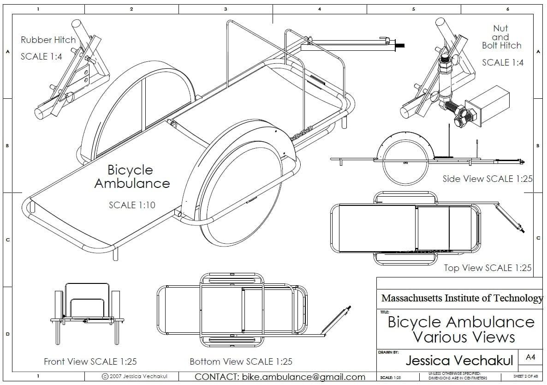 Engineering Schematics Bicycle Diagram Of A Zambulance For Change Rh Engineeringforchange Org Bottom Bracket Frame Schematic