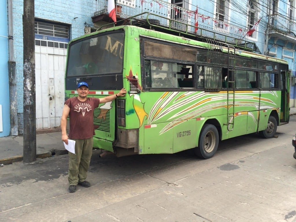 TfP's Magic bus to transport materials from Iquitos to Nauta Peru