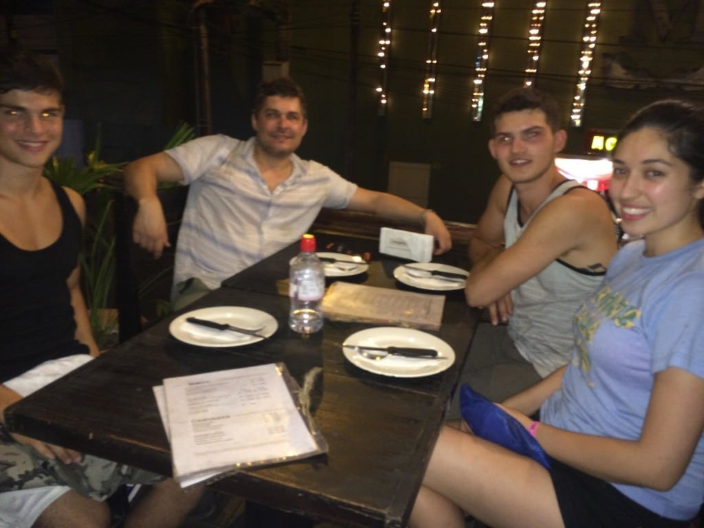 dining out with the TfP team in Iquitos