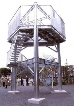 Tasukaru Tower is a tsunami evacuation point in Japan. Photo courtesy of ASME