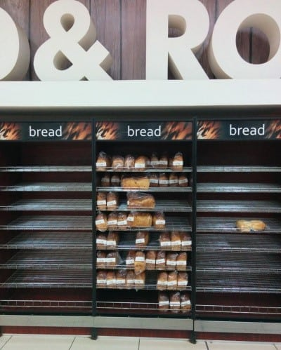 Bread on a shelf