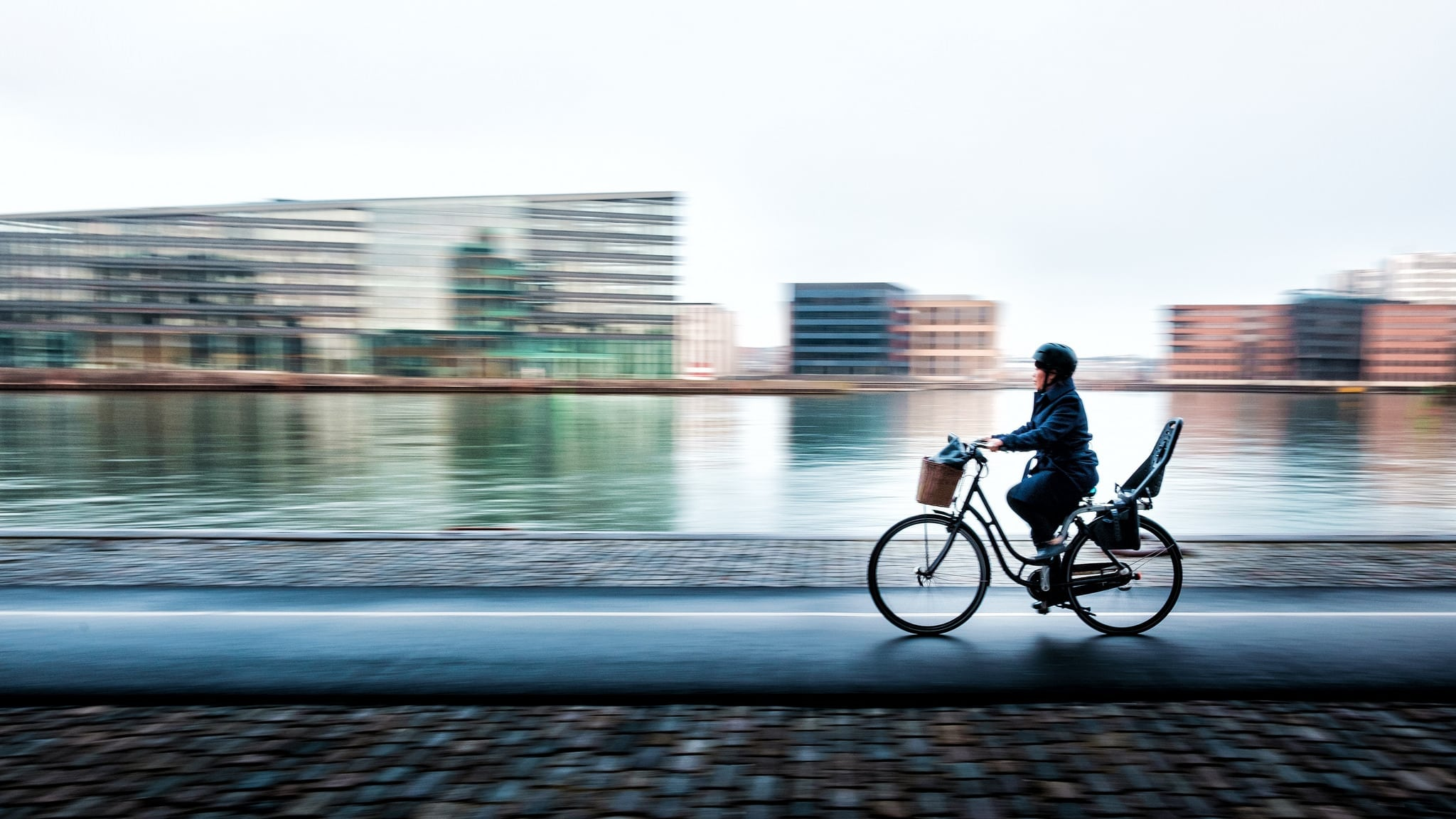 A cyclist in Copenhagen