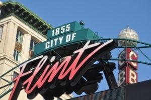Flint water crisis - sign in Flint