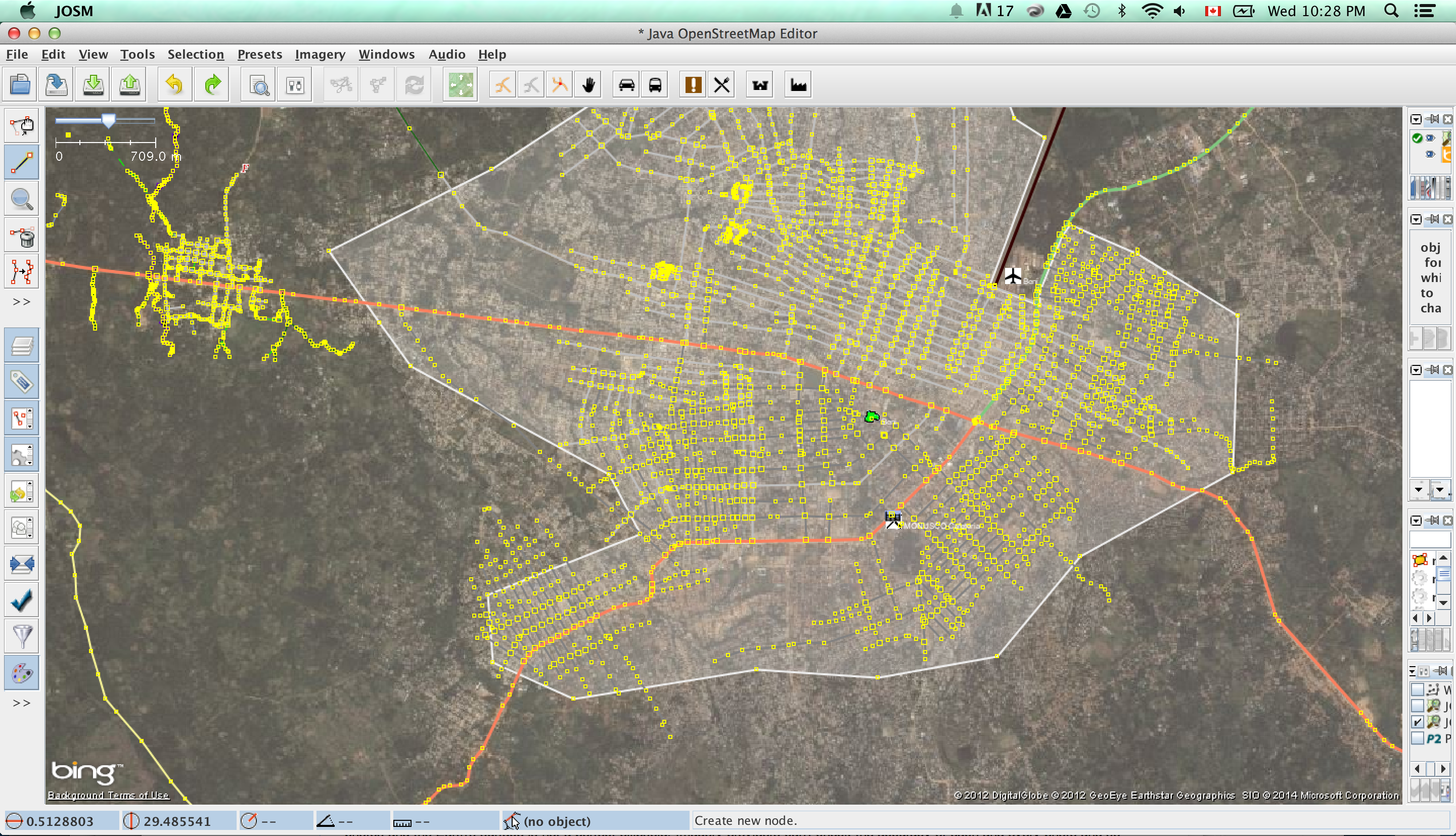 Easing land conflict in drc an intro to open source mapping tools tracing the main roads of beni gumiabroncs Choice Image