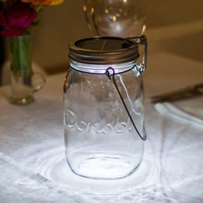 Consol Solar Jar shining