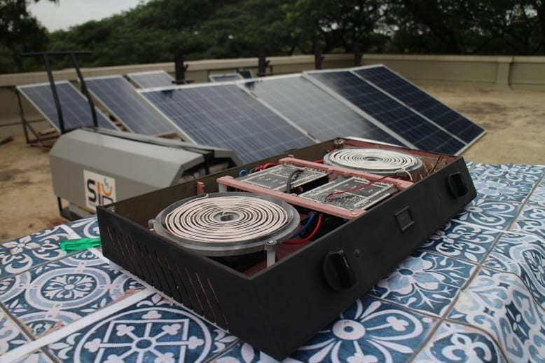 Solar PV Cookstove internals and panels