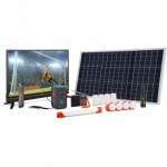 Product image of the d.Light X2000 Solar Home System, largest in the d.Light X-series.